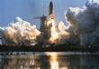 Space Shuttle Launch, Kennedy Space Center, Florida stock image
