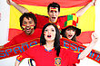 Face Spanish Football Fans stock photo