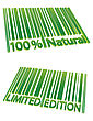 Special Edition And 100% Natural Barcodes stock vector