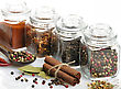 Spices Assortment In The Glass Jars stock image