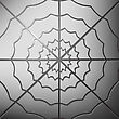 Spider Web On Grey Background. Cobweb Grey Icon