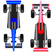 Sport Car Scheme Top View. Vector Illustration.