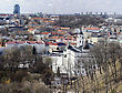 Spring Panorama Of Vilnius - Capital Of Lithuania. Early Spring.