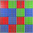 Square Background Made Of Multiple Color Freight Containers stock illustration