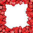 Square Frame Made From Red Dices stock photography