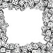 Square Frame Made From White Dices
