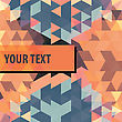 Square Frame For Text On Colorful Triangles Background