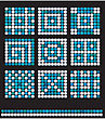 Square Mosaic Pattern Backgrounds Set - Classic Geometric Ornaments
