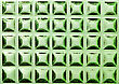 Square Ormanent Of Green Glass stock image