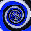 Square Vortex Of Black, White, Blue Colors