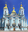St. Nicholas Naval Cathedral . St. Petersburg. Russia stock photo