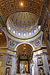 St. Peter's Basilica, St. Peter's Square, Vatican City. Indoor Interior stock image