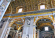 St. Peter's Basilica, St. Peter's Square, Vatican City. Indoor Interior stock photography