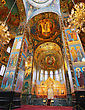 ST. PETERSBURG, RUSSIA FEDERATION - JUNE 29:Interior Of Church Savior On Spilled Blood . Picture Takes In Saint-Petersburg, Inside Church Savior On Spilled Blood On June 29, 2012 stock photo
