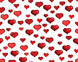 St. Valentine Day Seamless Background With Hearts