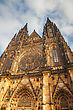 St. Vitus Cathedral Exterior In Prague Early In The Morning stock photography