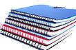 Stack Of Colorful Copybooks stock photo