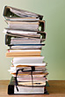 Stack of Binders & Files stock photo