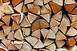 Stack Of Firewood stock photography