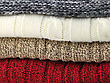 Stack Of Sweaters, Close Up stock photography
