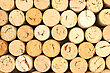 Stack Of Wine Corks, Cork Background stock photography