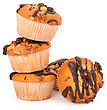 Stacked Muffins Isolated On White Background stock image