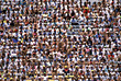 Stadium Crowd stock photography