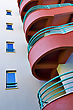 Residential Staircase Architecture Detail Of Modern Building stock photo