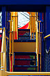 Stairway Leads To The Slides At The Playground stock image