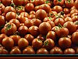 Stand With Lot Of Tomato At Grocery Shop stock photography