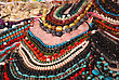 Stand Of Multicolored Beads To Buy At The Arabic Market stock photo