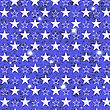Starry Grunge Blue Background For Independence Day Of America