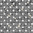 Starry Grunge Grey Background For Independence Day Of America
