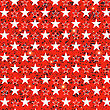 Starry Grunge Red Background For Independence Day Of America