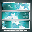 Stars Banner Set. Vector Illustration