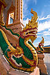 Statue Of Emerald Dragon In Buddhist Temple, Thailand stock photography