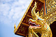 Statue Of Golden Dragon In Asian Temple
