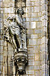 Statue Of A Women In The Front Of The Duomo's Church stock photo