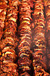 Steak And Other Meat On Barbeque. Background. Smoke. Meals, Close-up stock photography