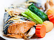 Omega Steamed Salmon In Soy Sauce Japanese Traditional Food stock photography