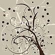 Still Compozition With Dying Tree Brunches, Background stock vector