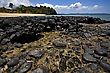 Stone In A Beach In Nosy Be Madagascar stock photo