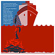 Stop Shark Finning And Safe Nature.Vector Red Flyer For Design stock image