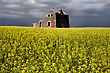 Storm Clouds Canada Rural Countryside Prairie Scene stock photography