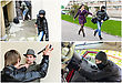 Story Of Different Robberies. Collage Made Of Four Pictures stock photography