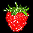 Strawberry With Drops Isolated Over Black. Large Resolution. Other Fruits Are In My Portfolio