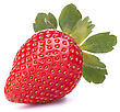 Strawberry Isolated On White Background Cutout stock photography