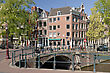 Streets And Canals Of Amsterdam, Netherlands stock photo