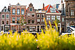 Streets And Canals Of Haarlem, Netherlands stock image
