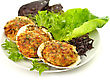 Stuffed Clams In A Plate stock photo